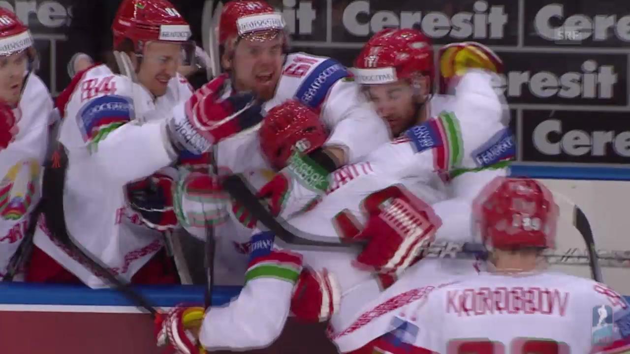 Eishockey: Weissrussland - Lettland