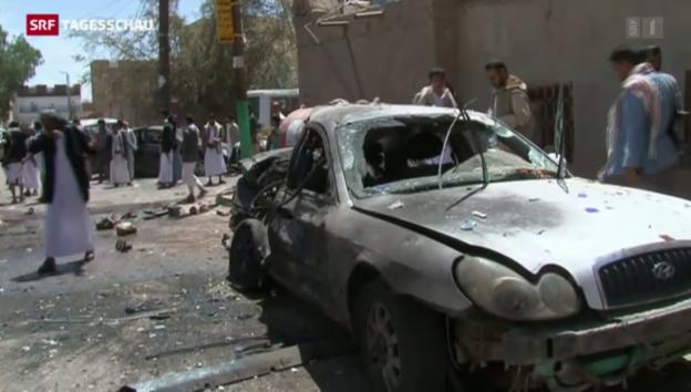 Video «Über 120 Tote bei Anschlägen auf Moscheen im Jemen» abspielen
