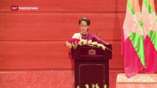 Video «Suu Kyi verurteilt erstmals Gewalt gegen Rohingya» abspielen