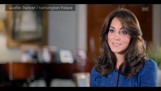 Video «Herzogin Kate plaudert aus dem Nähkästchen» abspielen