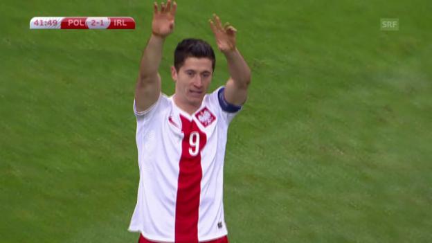 Video «Fussball: EM-Quali, Zusammenfassung Polen - Irland» abspielen