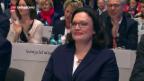 Video «Nahles wird mit Stotterstart neue SPD-Parteichefin» abspielen