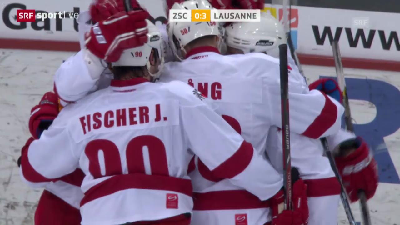 Eishockey: Zusammenfassung ZSC Lions - Lausanne («sportlive», 11.03.2014)