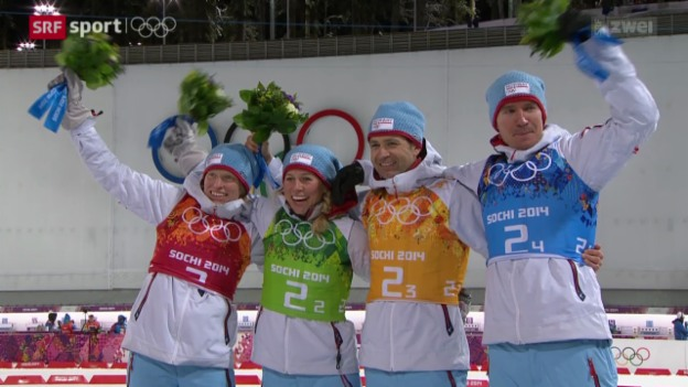 Video «Biathlon: Mixed-Staffel» abspielen