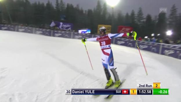 Video «Ski: Der 2. Lauf von Daniel Yule in Levi» abspielen