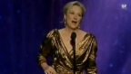 Video «Meryl Streep freut sich über ihren Oscar (englisch)» abspielen