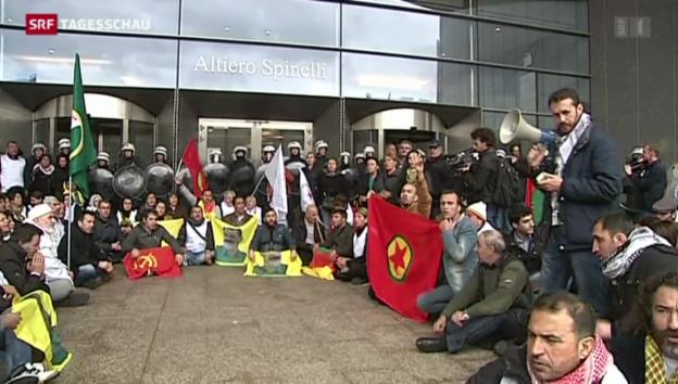 Video «Kurden-Demonstrationen in ganz Europa» abspielen