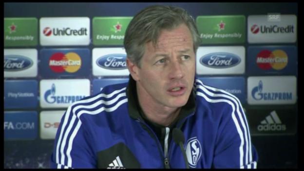 Video «Schalke-Coach Jens Keller vor dem Duell gegen Galatasaray» abspielen