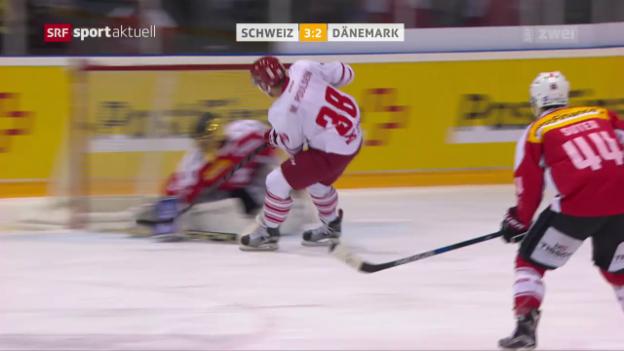 Video «Schweiz unterliegt Dänemark im WM-Test» abspielen