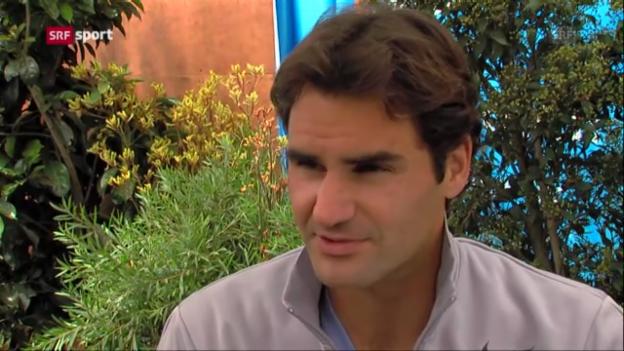 Video «Roger Federer vor den Australian Open» abspielen