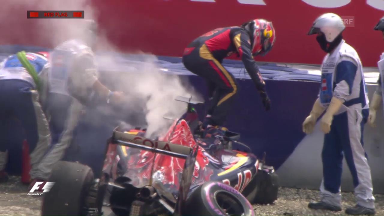 Daniil Kwjat crasht im Qualifying