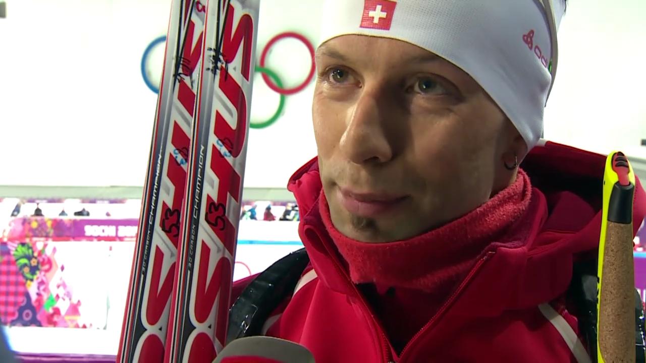 Biathlon: Verfolgung Männer, Interview mit Serafin Wiestner (sotschi direkt, 10.02.2014)