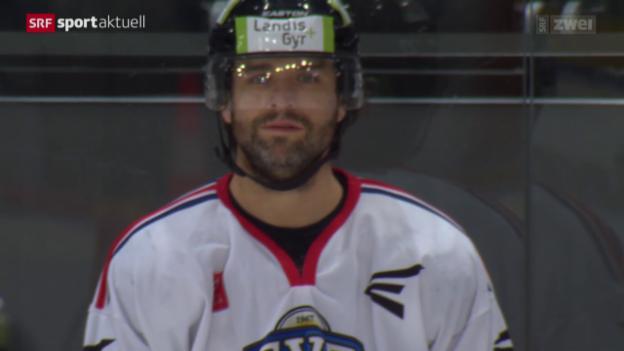 Video «Eishockey: Zugs Aggressivleader und Goalgetter Josh Holden» abspielen