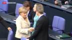 Video «Merkel untypisch unbescheiden» abspielen