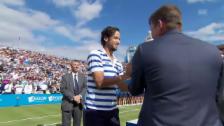 Video «Matchball abgewehrt: Lopez schlägt Cilic im Final von Queen's» abspielen