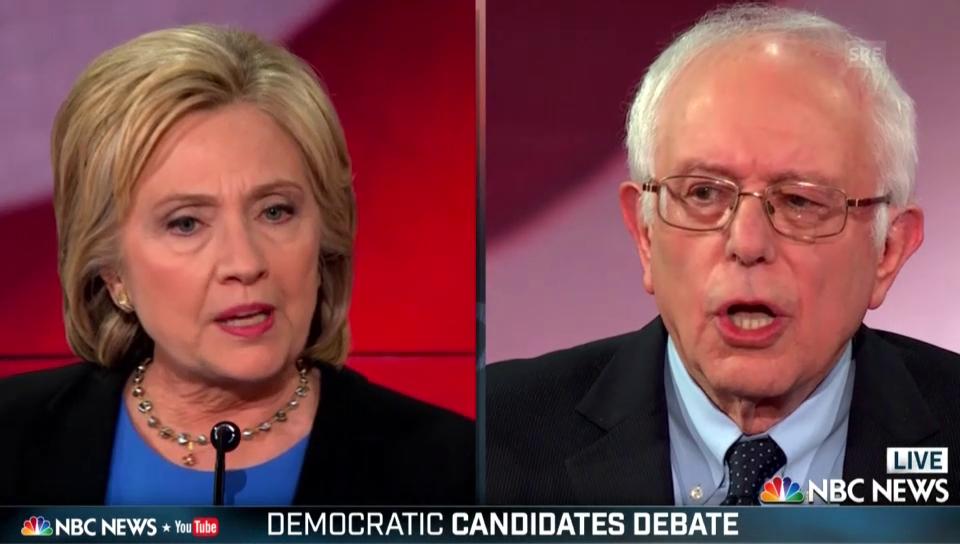 TV-Debatte: Clinton und Sanders kritisieren sich heftig