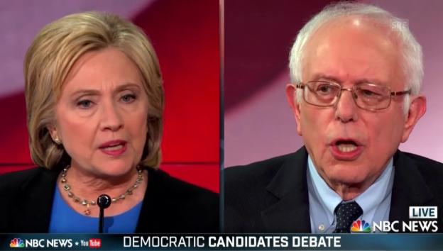 Video «TV-Debatte: Clinton und Sanders kritisieren sich heftig» abspielen