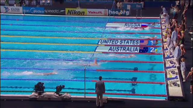 Final 4x100 Meter Lagenstaffel der Frauen