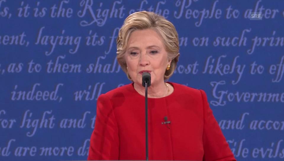 Clinton kontert: «Habe mich auf Debatte vorbereitet»