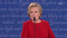Video «Clinton kontert: «Habe mich auf Debatte vorbereitet»» abspielen