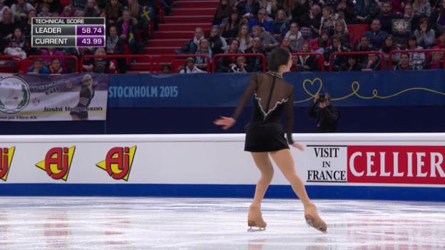 Video «Eiskunstlaufen: EM in Stockholm, Kür Eveline Brunner» abspielen