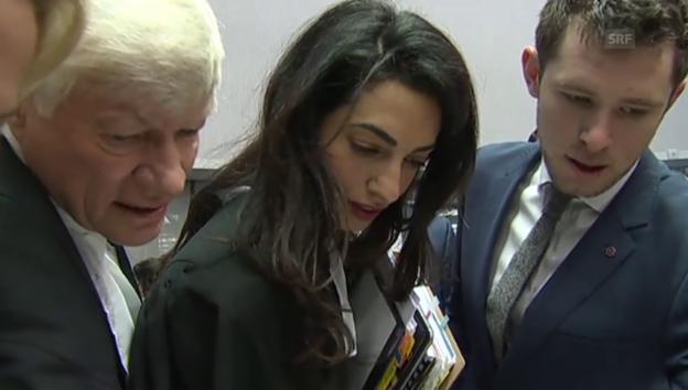 Video «Amal Clooney im Gericht» abspielen