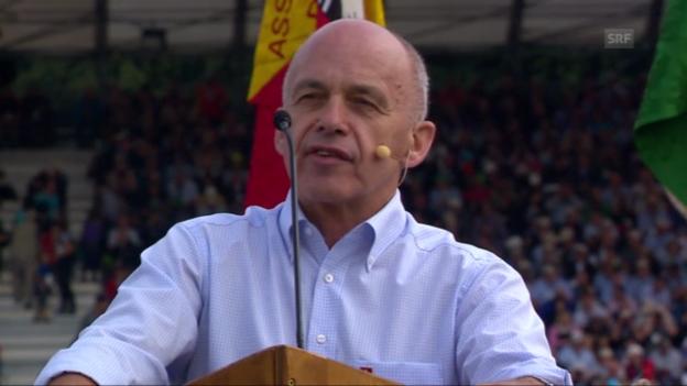 Video «ESAF: Ueli Maurers Festrede» abspielen