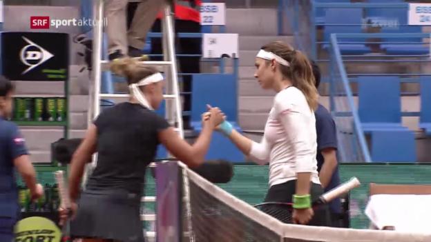 Video «Vögele erreicht zum 8. Mal einen WTA-Halbfinal» abspielen