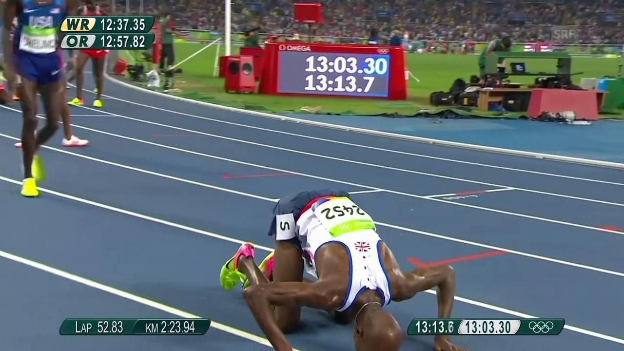 Farahs Olympia-Gold über 5000 m 2016 in Rio