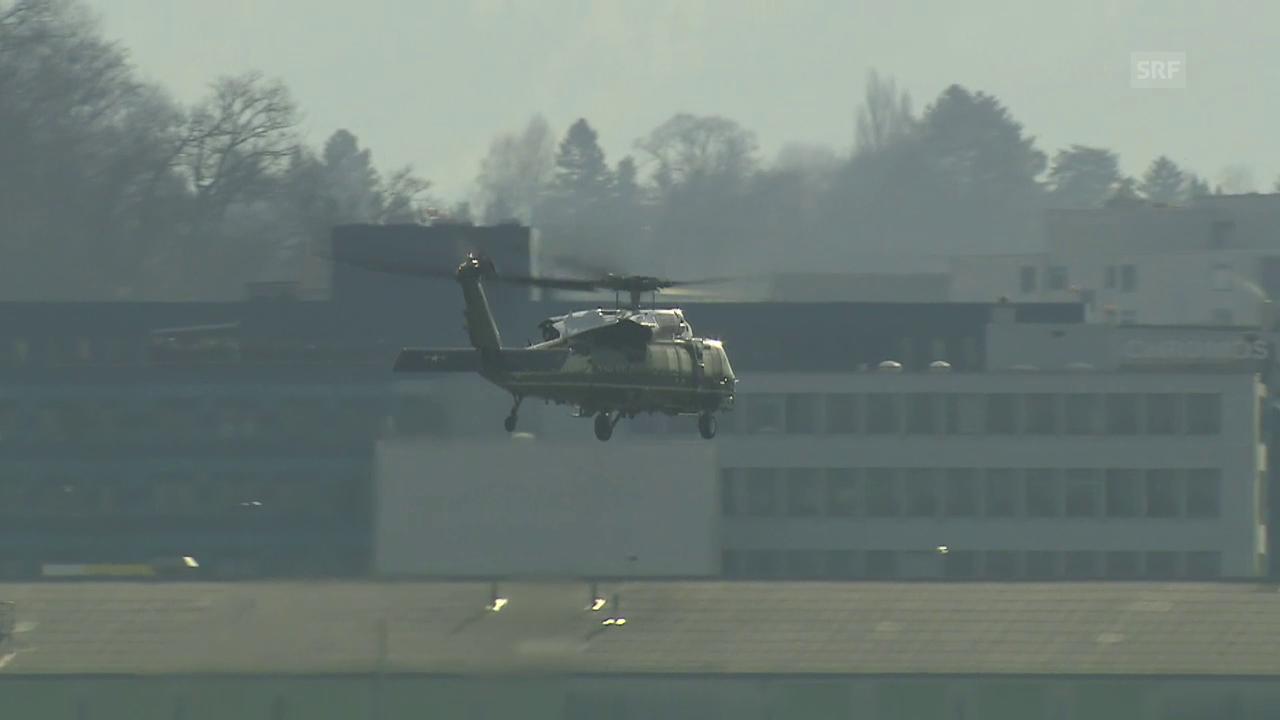 Abflug im Helikopter «Marine One»