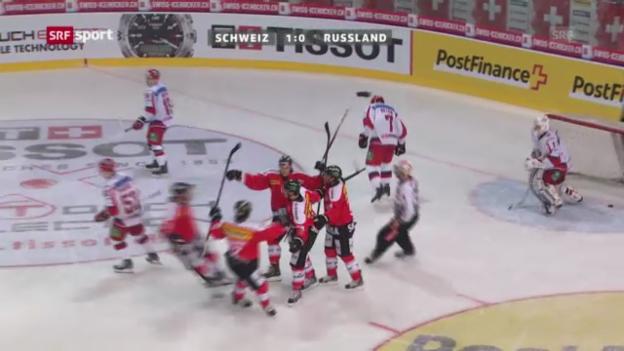 Video «Highlights Schweiz - Russland» abspielen
