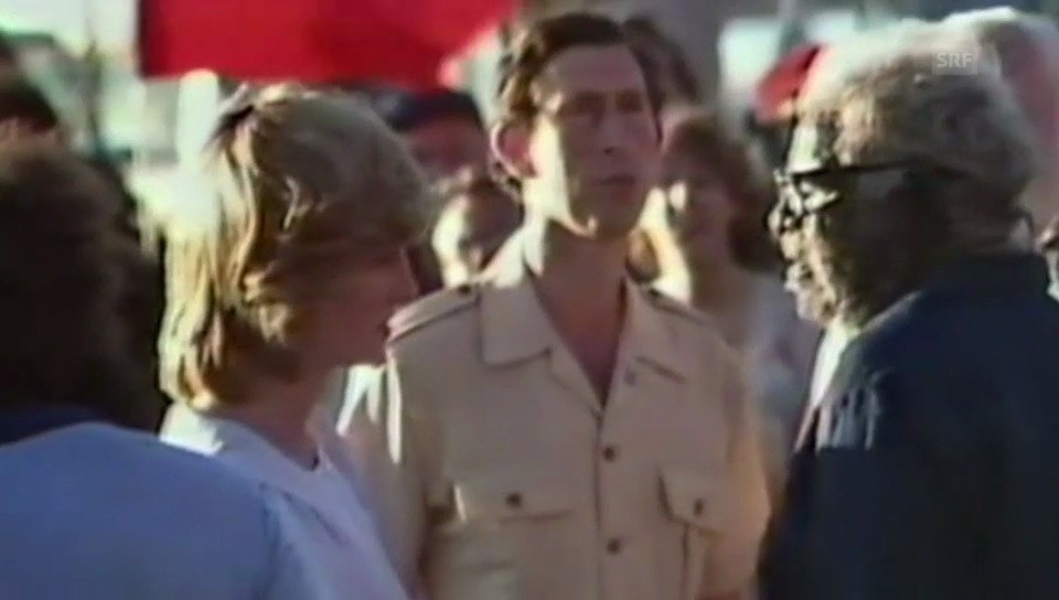 Diana und Charles in den 80er Jahren am Ayers Rock