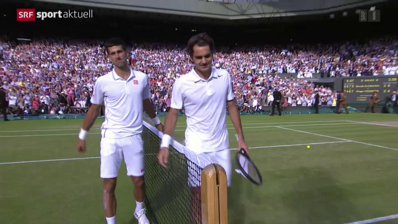 Tennis: Vorschau auf den Final Federer-Djokovic