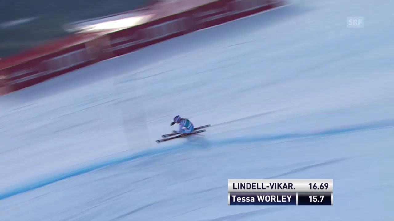 Der 1. Lauf von Tessa Worley («sportlive», 15.12.2013)