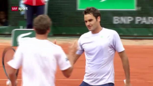 Video «Tennis: Zusammenfassung Federer-Carreño Busta («sportpanorama»)» abspielen