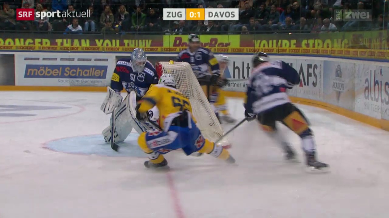 Eishockey: Zug - Davos