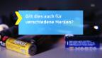 Video «3. Tipp: Batterie-Marken mischen?» abspielen