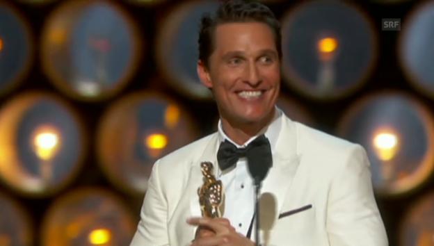 Video «Die Dankesrede von Matthew McConaughey» abspielen