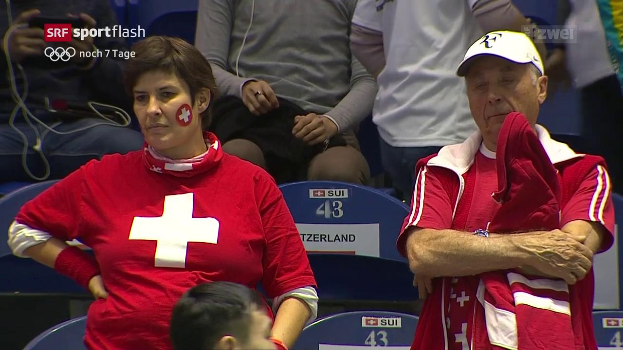 Schweizer gegen Kasachstan in Rücklage