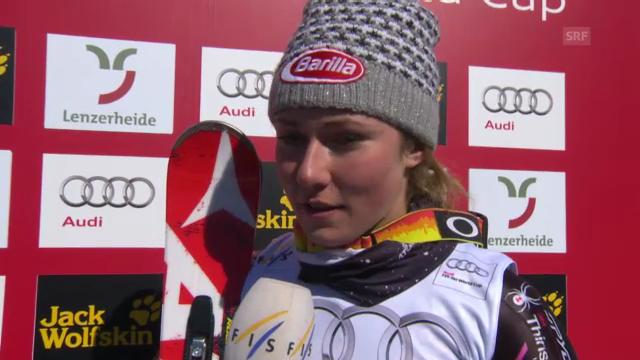 Ski: Lenzerheide, Platzinterview mit Shiffrin