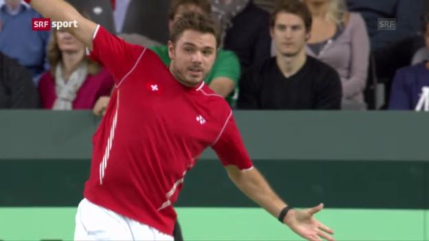 Video «Davis Cup: Wawrinka - Rosol («sportaktuell»)» abspielen