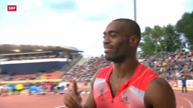 Video «Leichtathletik: Tyson Gay positiv getestet» abspielen