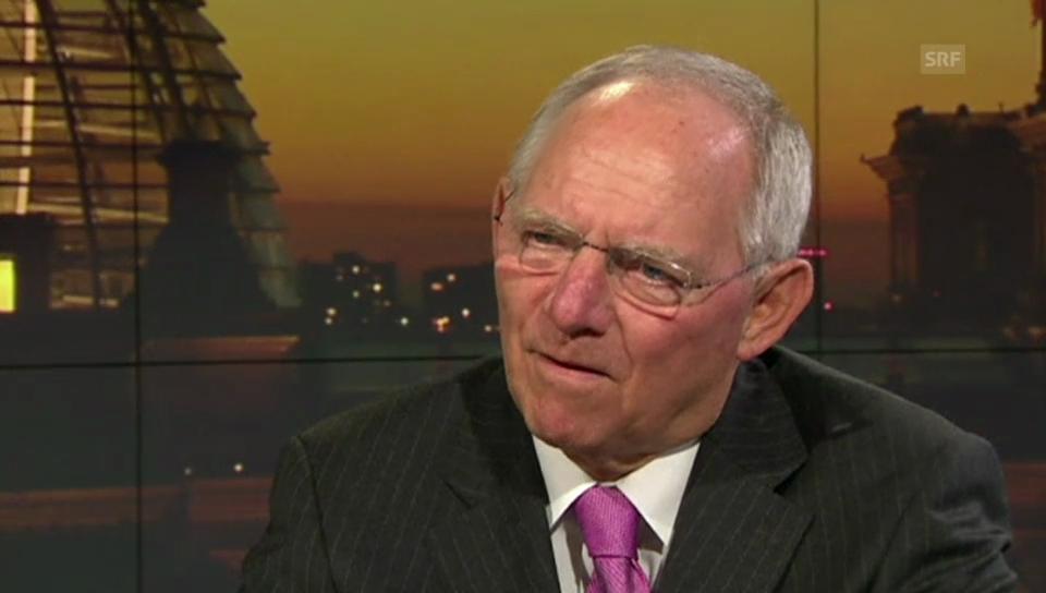 Deutscher Finanzminister Wolfgang Schäuble