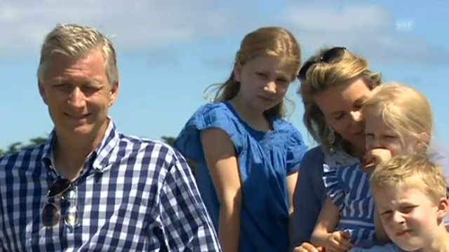 Die belgische Königsfamilie macht Ferien in Frankreich