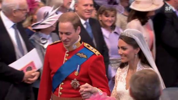 Video «Die Highlights der Hochzeit von Prinz William und seiner Kate» abspielen
