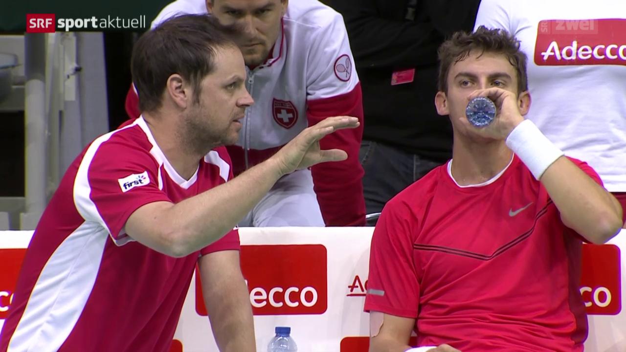 Tennis: Davis Cup, Belgien - Schweiz