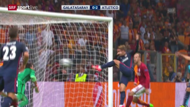 Video «Fussball: Champions League, Zusammenfassung Galatasaray - Atletico Madrid» abspielen