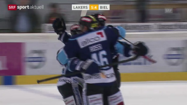 Video «Eishockey: Playout-Final, Spiel 6, Lakers-Biel («sportaktuell»» abspielen