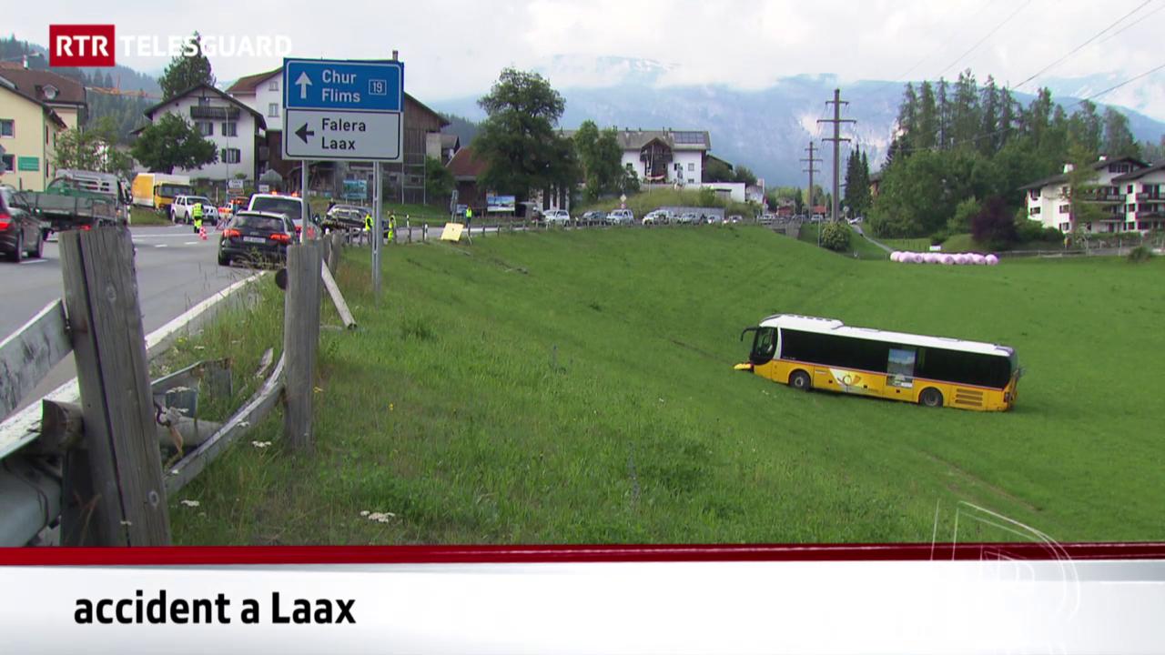 2 blessads tar accident cun auto da posta a Laax