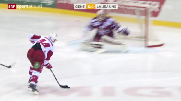 Video «Lausanne verliert in Genf und muss weiter um Playoffs bangen» abspielen